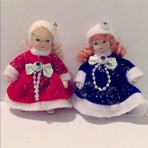 Adorable vintage porcelain collectable mini dolls